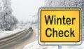 שלט זהירות בדיקת רכב לחורף